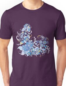 Blue flower and berries Unisex T-Shirt