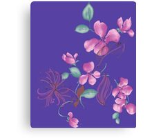 Cute purple flowers Canvas Print