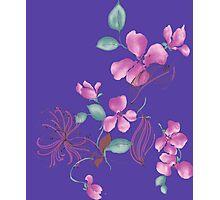Cute purple flowers Photographic Print