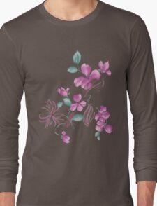 Cute purple flowers Long Sleeve T-Shirt