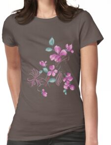 Cute purple flowers Womens Fitted T-Shirt