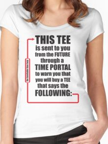 Time Travel Tee Women's Fitted Scoop T-Shirt