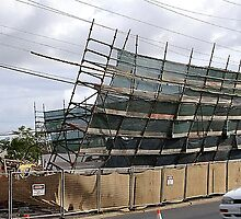 Collapsed Scaffold - Old Commonwealth Hotel, Rockhampton Australia by Gryphonn