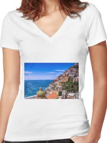 Love Of Poistano Italy Women's Fitted V-Neck T-Shirt
