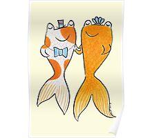 Goldfish Wedding Couple Poster