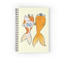 Goldfish Wedding Couple Spiral Notebook