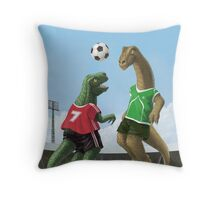 dinosaur football sport game Throw Pillow