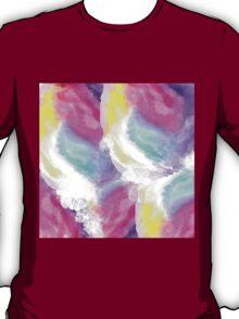 Girly bright pastel watercolor brush strokes T-Shirt