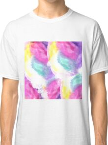 Girly bright pastel watercolor brush strokes Classic T-Shirt