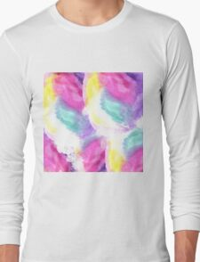 Girly bright pastel watercolor brush strokes Long Sleeve T-Shirt