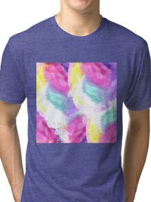 Girly bright pastel watercolor brush strokes Tri-blend T-Shirt