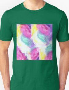 Girly bright pastel watercolor brush strokes Unisex T-Shirt