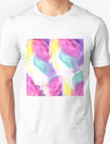 Girly bright pastel watercolor brush strokes Unisex T-Shirt