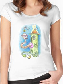 Out of Multipurpose's mouth Women's Fitted Scoop T-Shirt