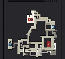 Counter-Strike de_inferno with white outline by pagrafy