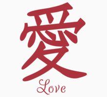 Japanese Kanji Love T Shirt One Piece - Long Sleeve