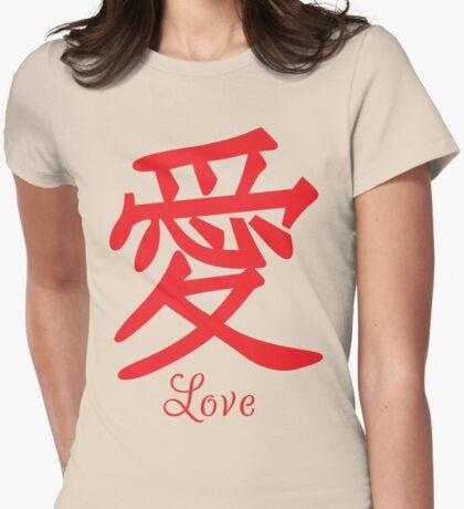 Japanese Kanji Love T Shirt Womens Fitted T-Shirt