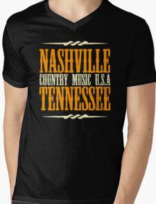Nashville Tennessee Country Music Mens V-Neck T-Shirt