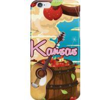 Kansas vintage cartoon travel poster iPhone Case/Skin