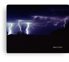 Wild Violet Blue and Lightning too Canvas Print
