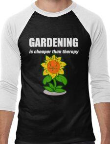 Gardening Is Cheaper Than Therapy Men's Baseball ¾ T-Shirt
