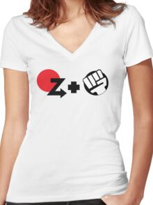 Shoryuken Women's Fitted V-Neck T-Shirt