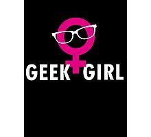 Geek Girl Photographic Print