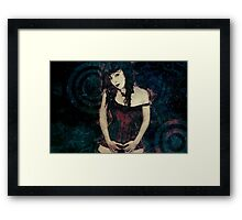 Dissolved Girl Framed Print