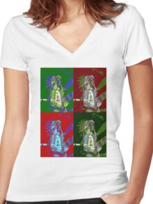 Indian Chief Pop Art 2 Women's Fitted V-Neck T-Shirt