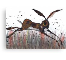 DASHING HARE Canvas Print