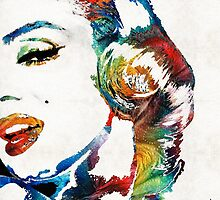 Marilyn Monroe Painting - Bombshell - By Sharon Cummings by Sharon Cummings