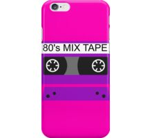 Neon 80s mix tape cassette iPhone Case/Skin