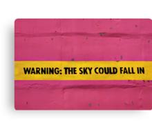 BEWARE!  Falling Sky! Canvas Print