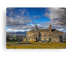 Town Hall and Bandstand Canvas Print