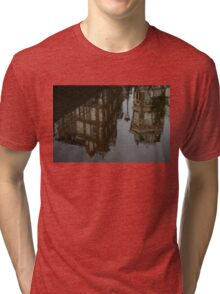 Starting to Rain - Amsterdam Canal Houses Reflected Tri-blend T-Shirt