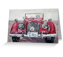 Morgan Red Car Greeting Card