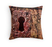 Rustic Lock Throw Pillow