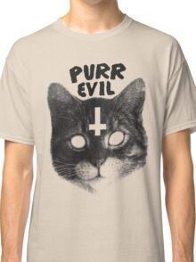 Purr Evil Cat Classic T-Shirt