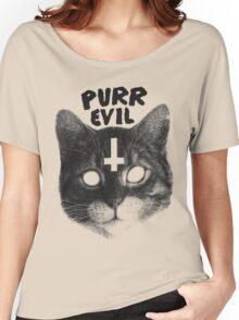 Purr Evil Cat Women's Relaxed Fit T-Shirt