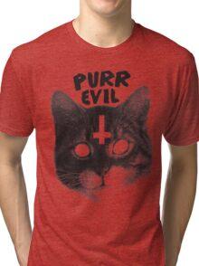 Purr Evil Cat Tri-blend T-Shirt