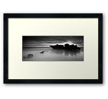 Big Rock-Little Rock Framed Print