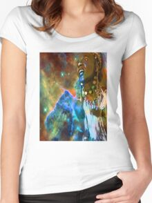Cosmic Dance Women's Fitted Scoop T-Shirt