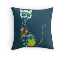 Cute cat pattern Throw Pillow