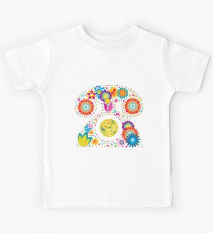 Abstract floral phone Kids Tee