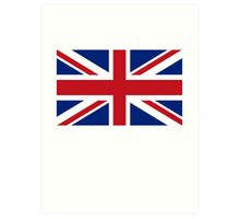 Flag of the United Kingdom, Union Jack, Britain, British flag, Pure & Simple Art Print