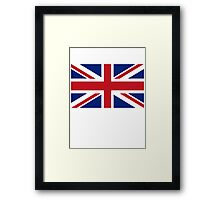 Flag of the United Kingdom, Union Jack, Britain, British flag, Pure & Simple Framed Print