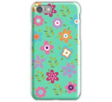 Scattering of cute flowers iPhone Case/Skin