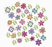 Scattering of cute flowers Kids Clothes