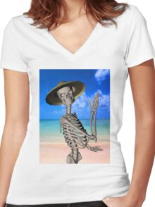 Looking forward to the Summer Women's Fitted V-Neck T-Shirt