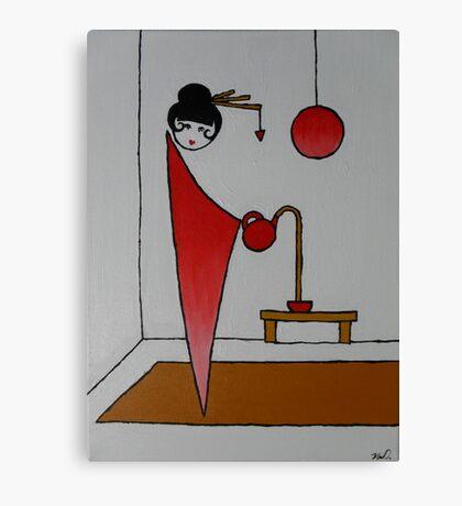 Geishas Teapot Canvas Print
